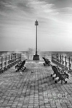 Swanage Jetty Black and White by Linsey Williams
