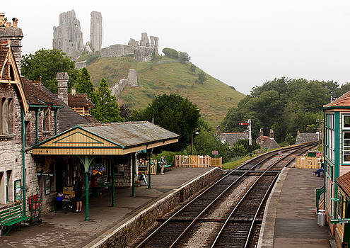 Swanage Railway into Corfe Castle by Mike Finding