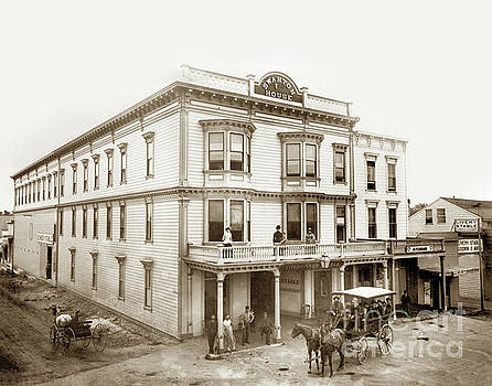 Swanton House at the corner of Front and Water Streets Santa Cruz 1884 by California Views Mr Pat Hathaway Archives