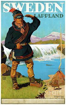Sweden Lappland Vintage Travel Poster Restored by Carsten Reisinger