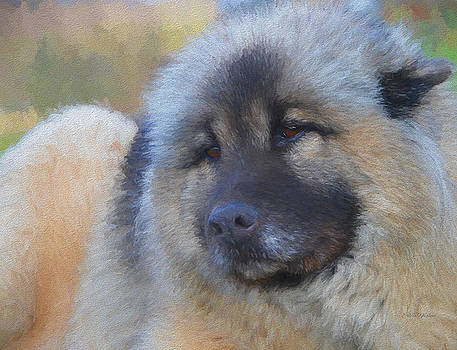 Sweet Face of a Eurasier - Painting by Ericamaxine Price