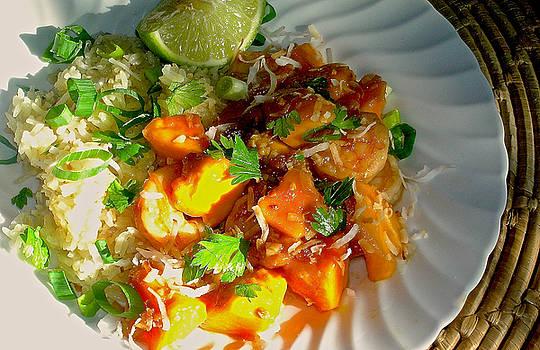 James Temple - Sweet Mango Coconut Shrimp  with Toasted Jasmine Rice