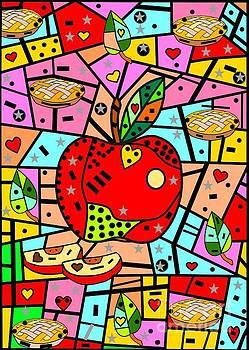 Sweet Popart Apple by Nico Bielow by Nico Bielow