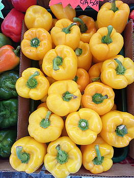 Sweet Yellow Peppers by Mudiama Kammoh