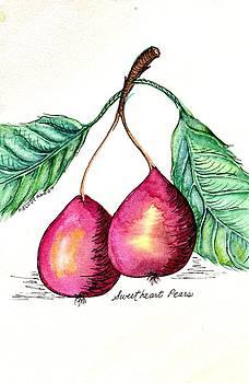 Sweetheart Pears by Melody Allen