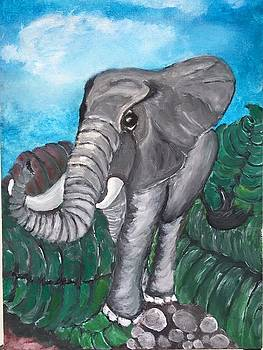 Sweetie elephant  by Mimi Eskenazi