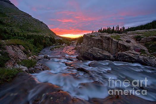 Adam Jewell - Swiftcurrent Falls Summer Sunrise