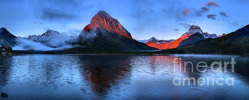 Adam Jewell - Swiftcurrent Sunrise Glow Panorama