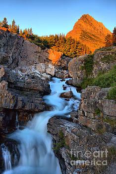 Adam Jewell - Swiftcurrent Falls Sunrise Portrait