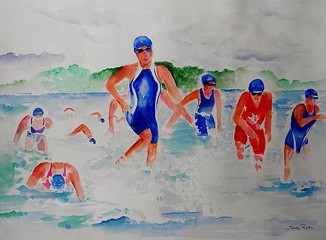Swim Finish by Sandy Ryan