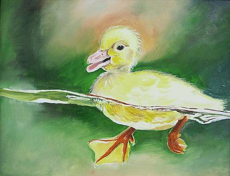 Swimming Duckling by Teresa Smith