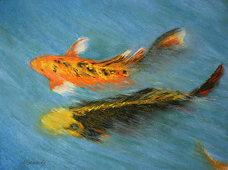 Swimming Koi by Marna Edwards Flavell
