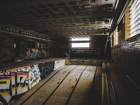 Swimming Pool In Abandoned Building by Dylan Murphy
