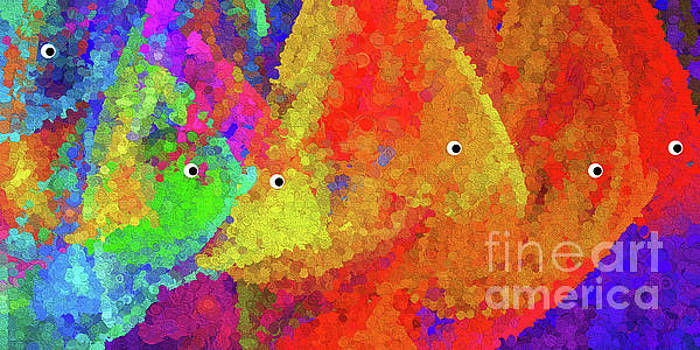 Andee Design - Swimming Rainbow Fish Abstract