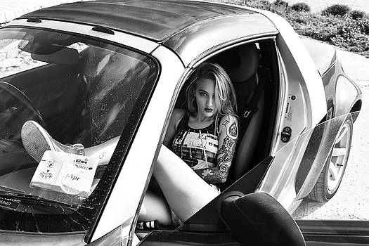 Swimsuit Girl in Car by Oliver Cook