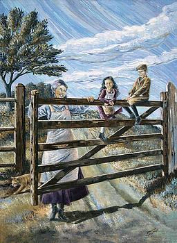 Swinging on a Gate by Paula Blasius McHugh