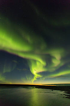 Tim Grams - Swirling Auroras above the Canning River