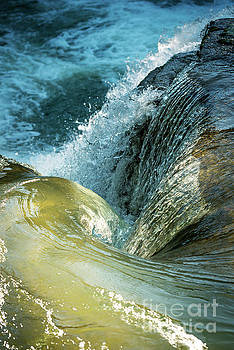 Swirling Water As Natural Wallpaper by Tim Hester