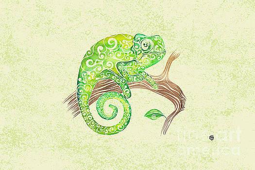 Swirly Chameleon by Carolina Matthes