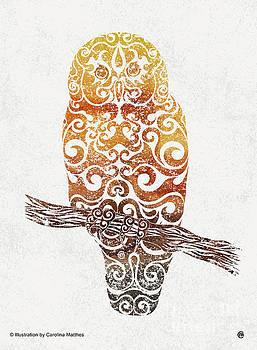 Swirly Owl by Carolina Matthes
