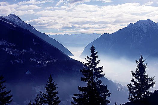 Art Block Collections - Swiss Alps in Blue