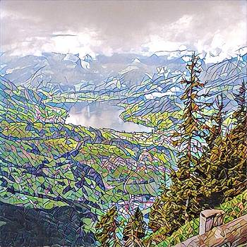 Swiss Vista - Stained Glass by Charles Morford