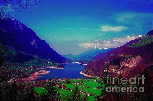 Switzerland alps lake  spring by Tom Jelen