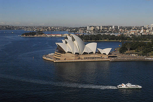 Sydney Harbor and Opera House by Al Junco