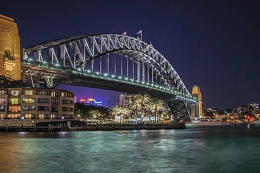 Sydney Harbor Bridge at Night by Ray Warren