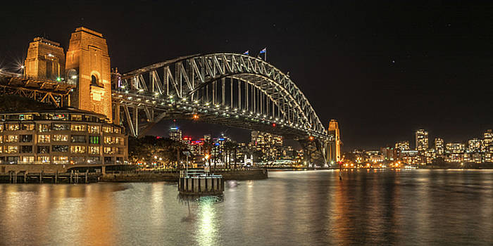 Sydney Harbour at Night by Racheal Christian