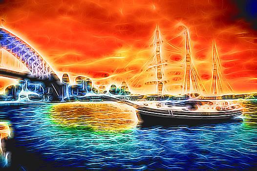 Sydney Harbour Glow by Chris  Hood