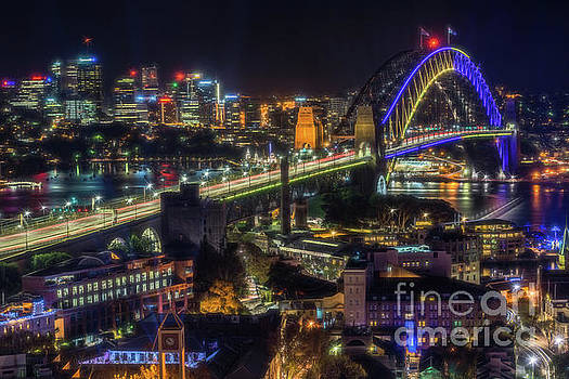 Sydney Harbour Glow by Paul Woodford
