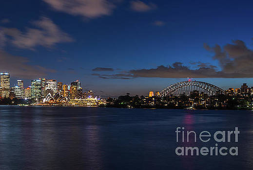 Sydney harbour lights by Andrew Michael