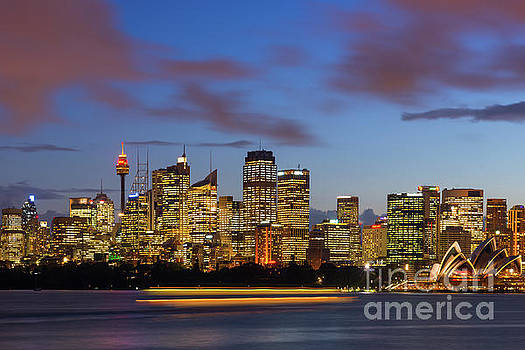Sydney Harbour sunset by Andrew Michael