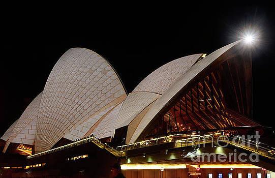 Sydney Opera House Close View 2 by Kaye Menner by Kaye Menner
