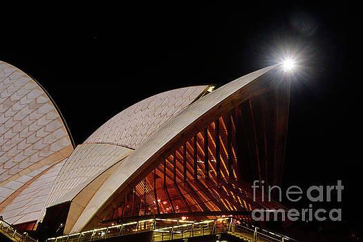Sydney Opera House Close View by Kaye Menner by Kaye Menner