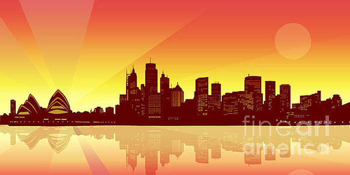 Sydney Skyline by Sandra Hoefer