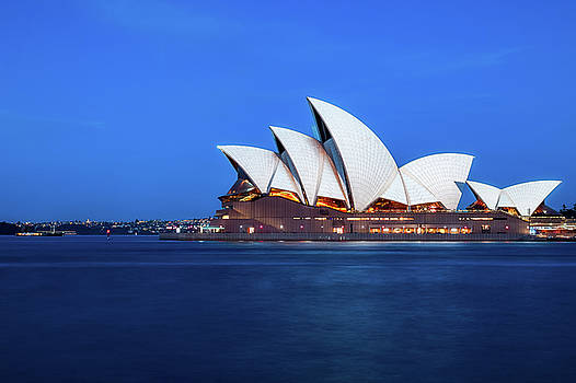 Sydney's Opera House at blue hour by Daniela Constantinescu