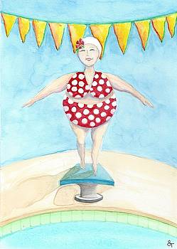 Sylvia at the Pool by Stephanie Troxell