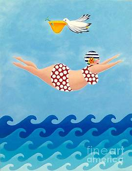 Sylvia Diving II by Stephanie Troxell