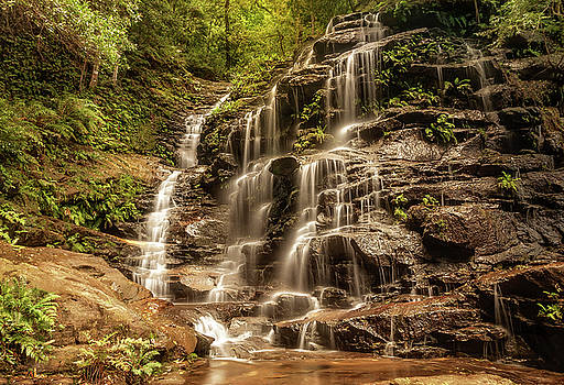 Sylvia Falls, Valley of the Waters, Blue Mountains, Australia. by Daniela Constantinescu