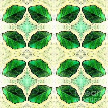 Symmetry In Green Leaves by Helena Tiainen