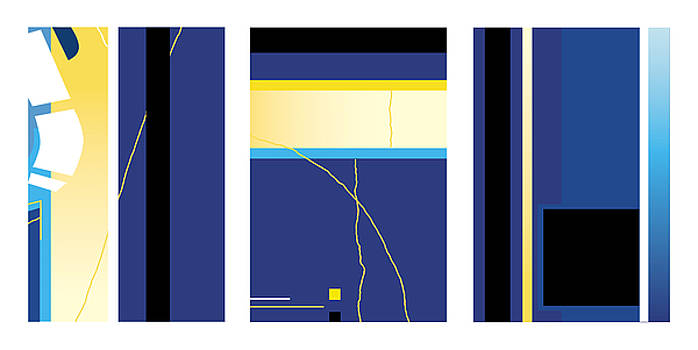 David Hargreaves - Symphony in Blue - Triptych2