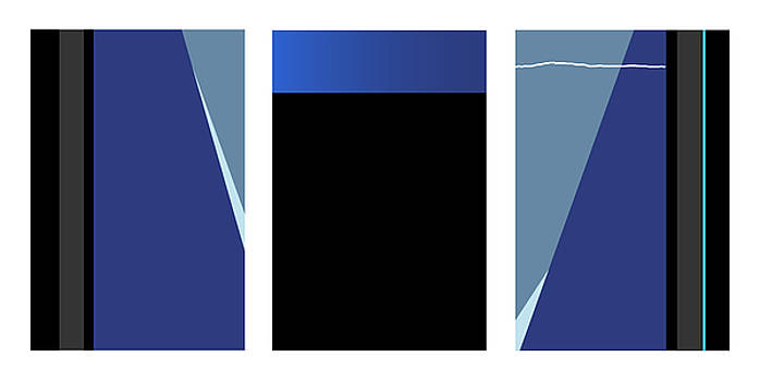 David Hargreaves - Symphony in Blue - Triptych 3
