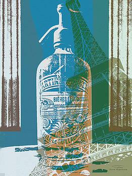 Joost Hogervorst - Syphon bottle avec Eifel bleu