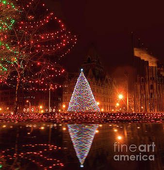 Syracuse, NY Christmas tree by Debra Millet