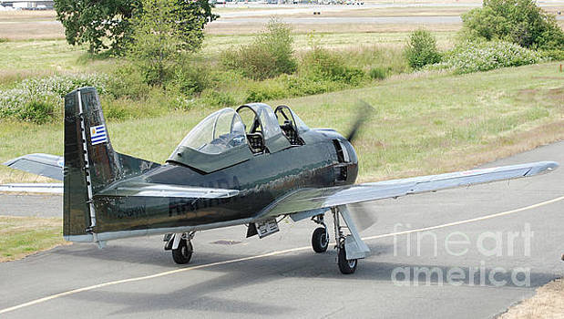 T-28 taxiing out by Mark Alan Perry