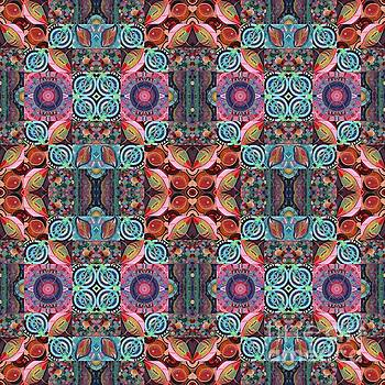 T J O D Mandala Series Puzzle 7 Arrangement 1 Multiplied by Helena Tiainen