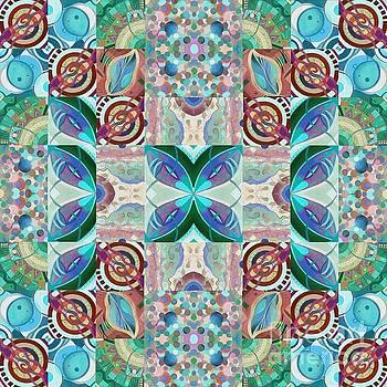 T J O D Mandala Series Puzzle 7 Arrangement 2 Inverted by Helena Tiainen
