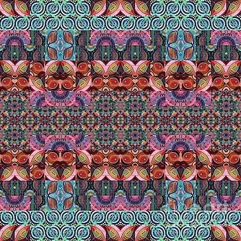 T J O D Mandala Series Puzzle 7 Arrangement 3 Multiplied by Helena Tiainen